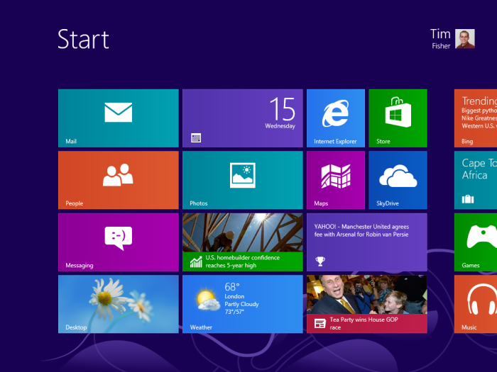 windows 8 installation finished