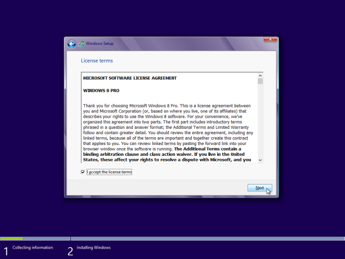 windows 8 license agreement